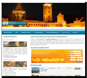 Byty Budějovice - v současnosti mají stránky jiný design