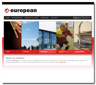 Oficiální stránky společnosti EUROPEAN s.r.o.