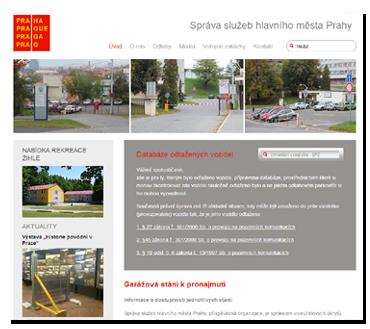 Správa služeb hlavního města Prahy - v současnosti mají stránky jiný design