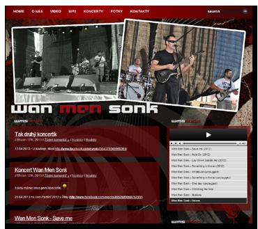 Stránky kapely Wan Men Sonk